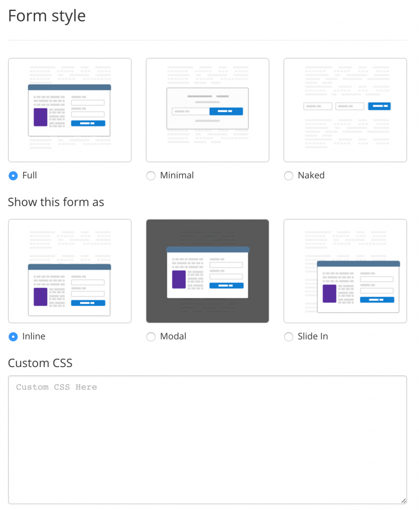 convertkit-forms-to-choose why I switched From Aweber to ConvertKit