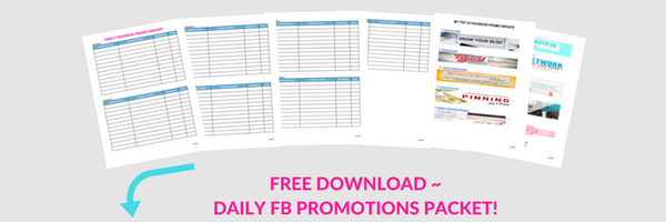 Free Daily FB Promotions Packet